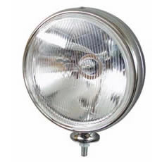 Driving Lamp Commercial Round Chrome Bx1