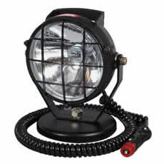 Spot Lamp Black Plastic with Magnetic Base and Cable Bx1