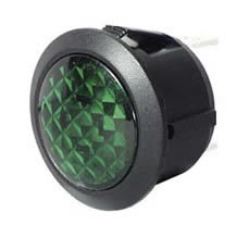Warning Light Green LED 12/24 volt Bg1