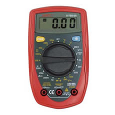 Multimeter Digital Hand Held with Temperature Cd1