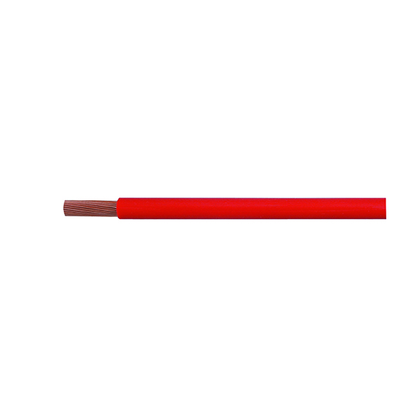 Cable Starter Flexible 266/0.30mm Red PVC 10M