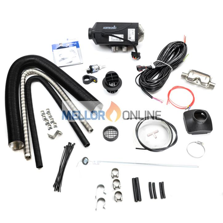 Eberspacher D2 24V Airtronic Kit | 1 Outlet 2.2KW with Exhaust Silencer