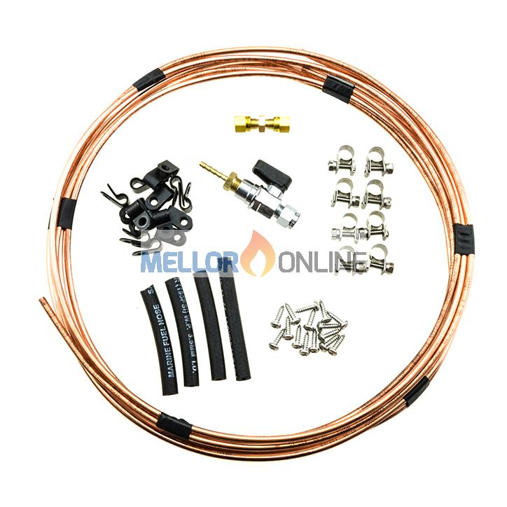 Eberspacher Marine copper Fuel Kit 4mm OD Flared ISO7840 - 6M