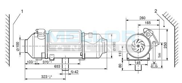 eberspacher d8lc universal kit 24v