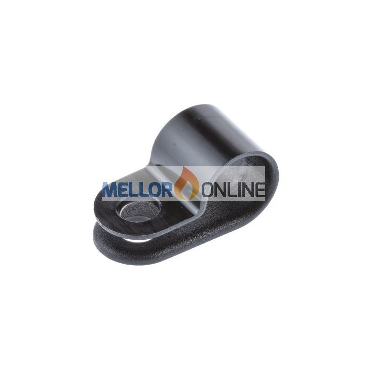 Nylon P Clips Black - for use with 4mm OD copper pipe