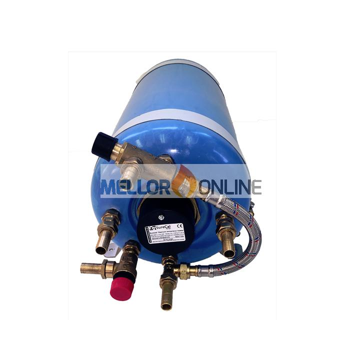 20 litre horizontal single coil Surecal calorifier