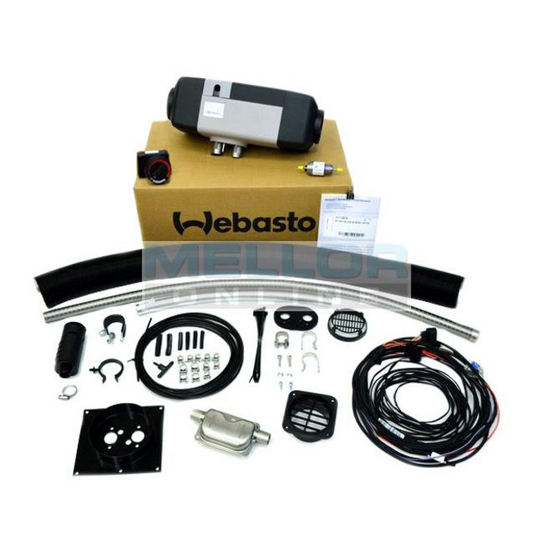 Webasto Air Top EVO 40 RV Universal kit 4kw Heater Kit 12v 1 Outlet - with Rotary Controller