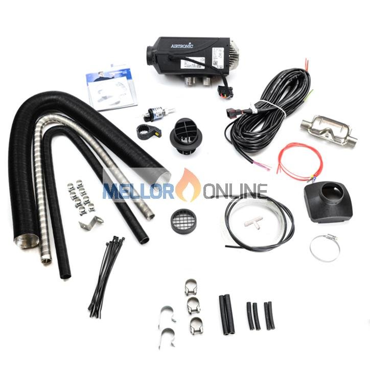 Eberspacher D2 12V Airtronic kit | 1 Outlet  2.2KW with Exhaust Silencer 60mm ID Ducting