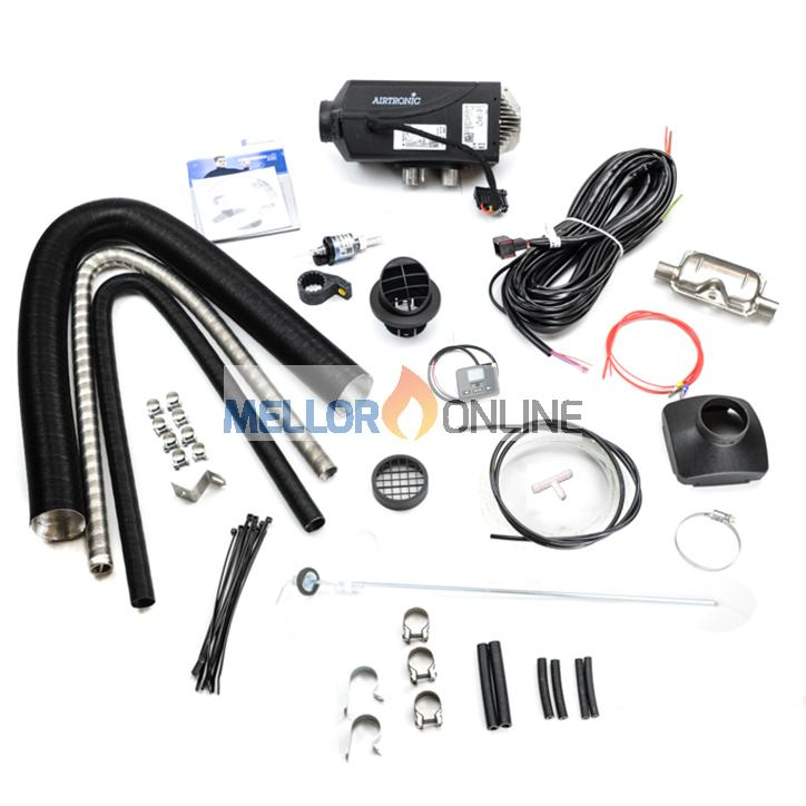 Eberspacher D2 24V Airtronic kit | 1 Outlet  2.2KW with New 801 and Exhaust silencer