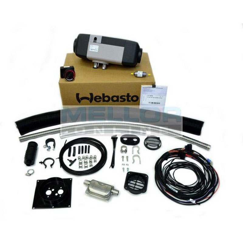 Webasto Air Top EVO 40 RV Universal kit 4kw Heater Kit 24v 1 Outlet - with Rotary Controller