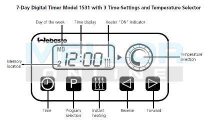 Webasto Digital Timer/Alarm 24v, Night Heater Kits ...