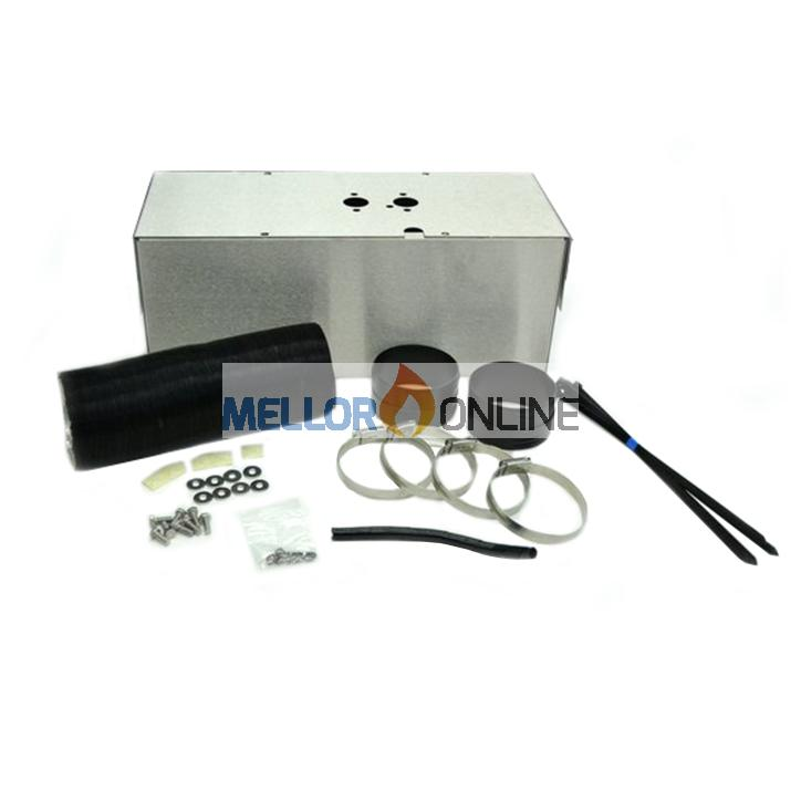External Heater mounting Kit Box Stainless 90mm