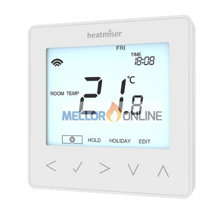 Heatmiser SIMLINE-N 12v non-programmable Thermostat with temp Air Sensor