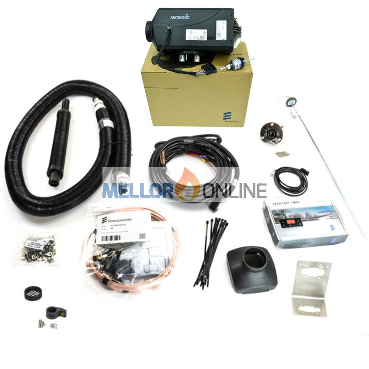 Eberspacher D4 Airtronic Plus Marine Changeover kit 12v with 7 Day Timer & Integrated Exhaust Silencer 4.0Kw