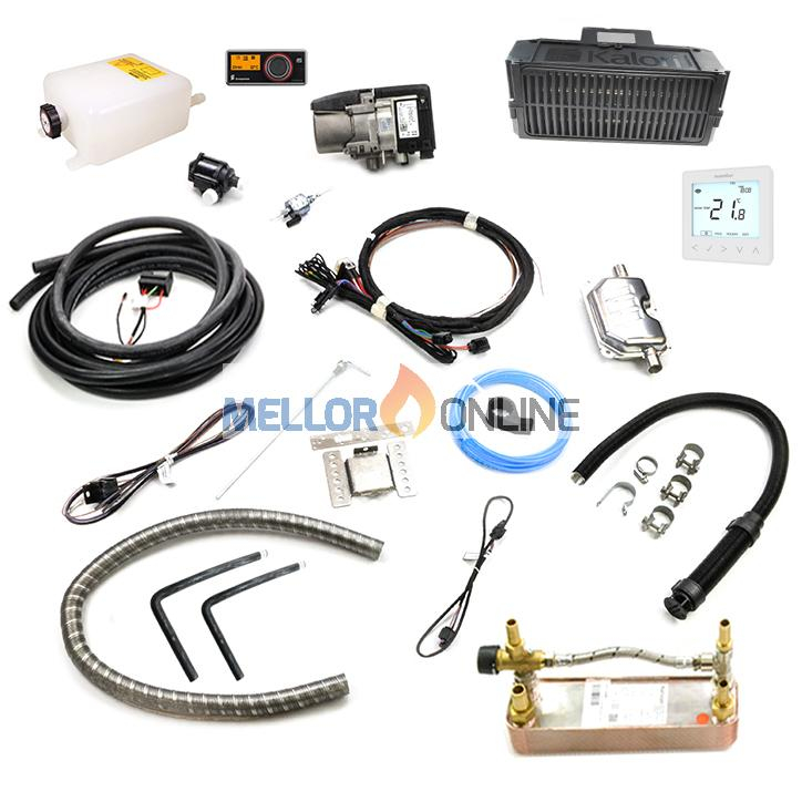 Eberspacher Hydronic 2 D5S 12v 5.2kw Diesel Dual Camper Heater Kit 12v with Heat exchanger - Hot Water and Hot Air