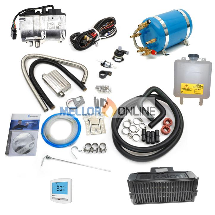 Eberspacher Hydronic 2 D5S 12v 5.2kw (Petrol) Dual Camper Heater Kit 12v - Hot Water and Hot Air