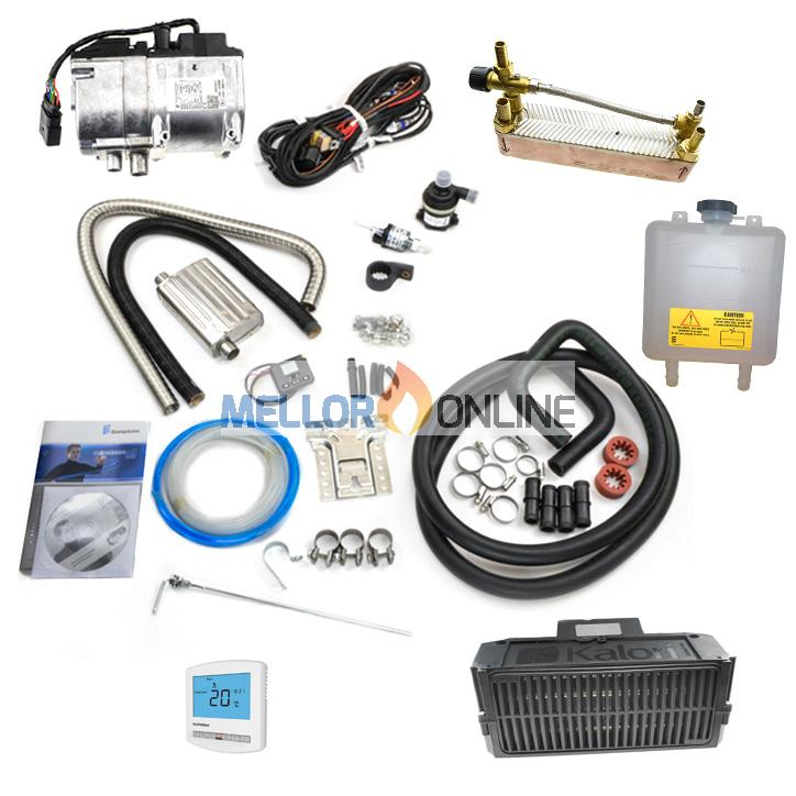 Eberspacher Hydronic 2 D5S 12v 5.2kw (Petrol) Dual Camper Heater Kit 12v with Heat exchanger - Hot Water and Hot Air
