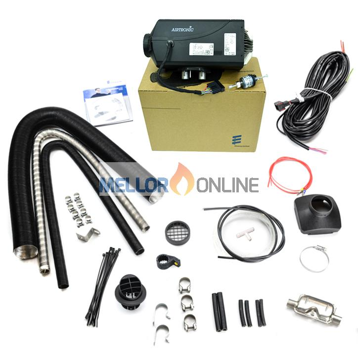 Eberspacher Airtronic D4S 24v Vehicle/Camper Heating Kit with silencer 90mm ID Ducting