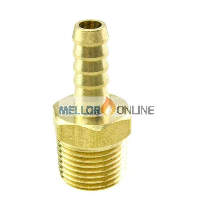 Webasto Male Tail Connector 1/2 inch to 10mm ID for 10mm ID Water hose